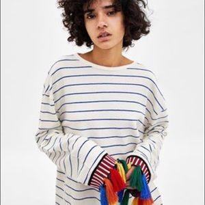 a6a5f144b27 Women Zara Embroidered Sweater on Poshmark
